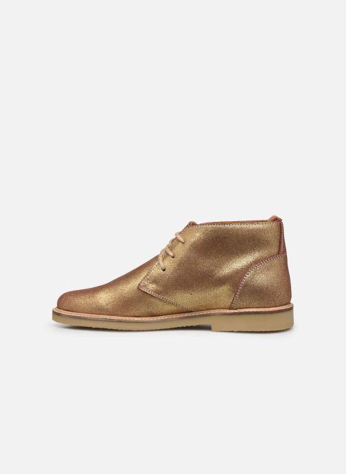Bottines et boots Kickers TYL F Or et bronze vue face