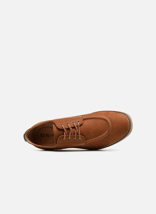 Zapatos con cordones Kickers ZELAND Marrón vista lateral izquierda