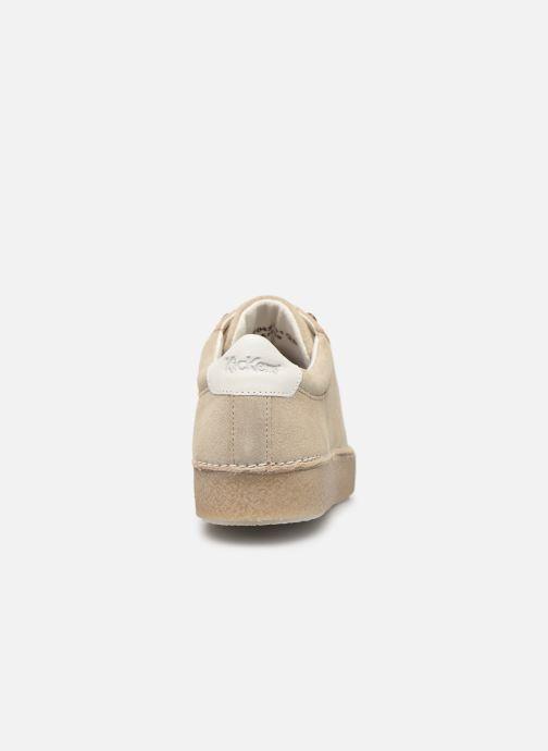 Zapatos con cordones Kickers SPRITE Beige vista lateral derecha