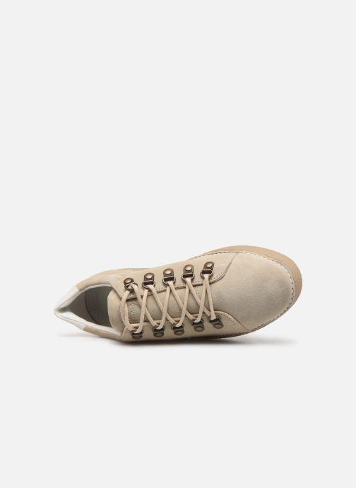 Zapatos con cordones Kickers SPRITE Beige vista lateral izquierda