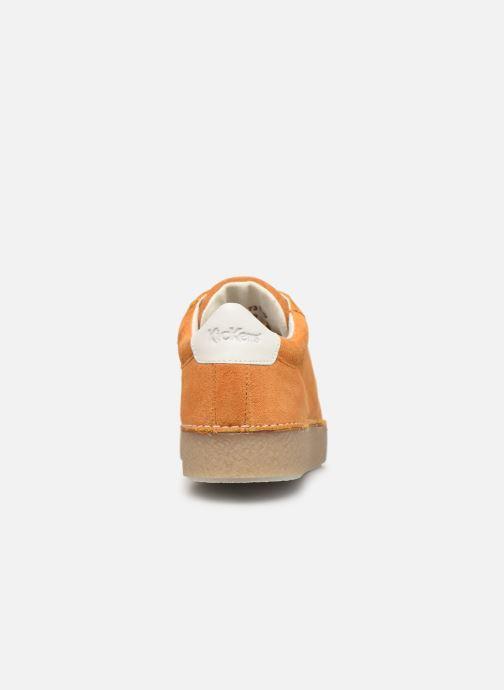 Zapatos con cordones Kickers SPRITE Amarillo vista lateral derecha