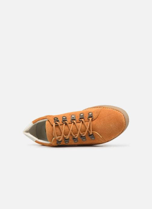 Zapatos con cordones Kickers SPRITE Amarillo vista lateral izquierda