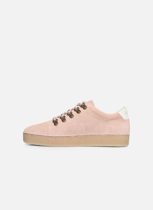 Zapatos con cordones Kickers SPRITE Rosa vista de frente