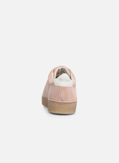 Zapatos con cordones Kickers SPRITE Rosa vista lateral derecha