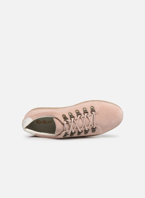 Chaussures à lacets Kickers SPRITE Rose vue gauche