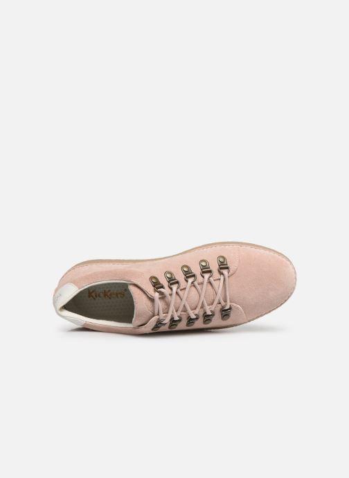 Zapatos con cordones Kickers SPRITE Rosa vista lateral izquierda