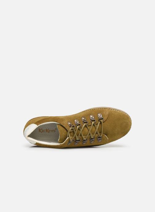 Chaussures à lacets Kickers SPRITE Vert vue gauche