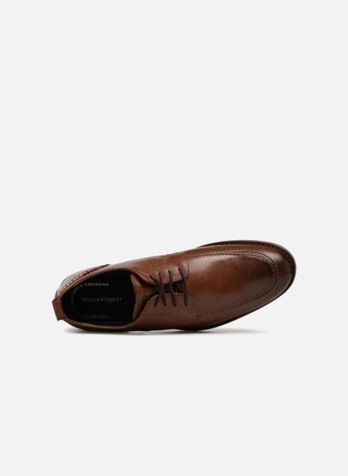 Chaussures à lacets Rockport Wynstin Apron Marron vue gauche