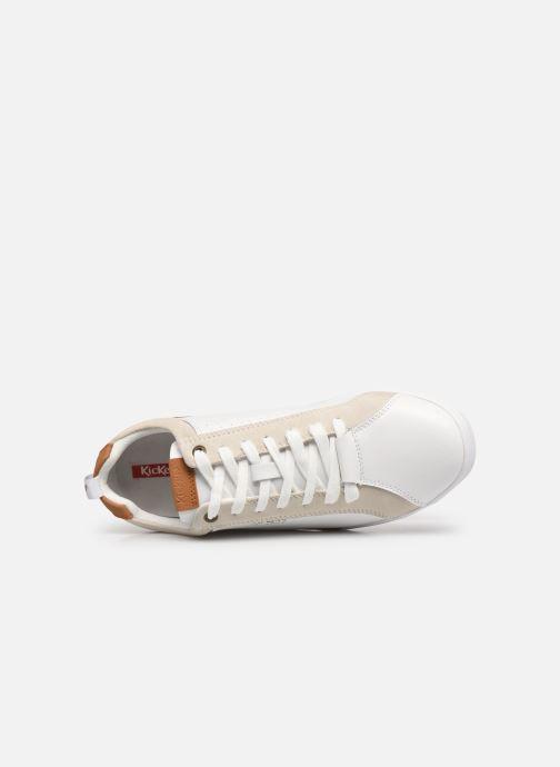 Sneaker Kickers TAMPA weiß ansicht von links