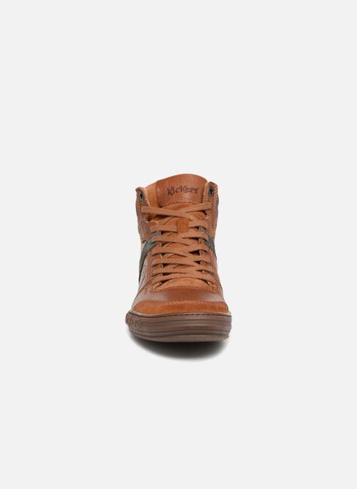 Baskets Kickers JEXPLOREHIGH M Marron vue portées chaussures