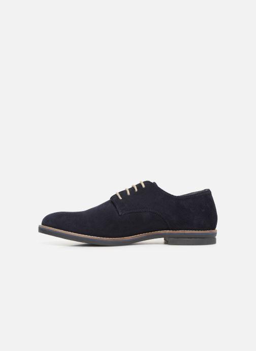 Zapatos con cordones Kickers ELDAN M Azul vista de frente