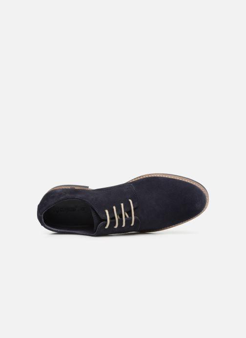 Zapatos con cordones Kickers ELDAN M Azul vista lateral izquierda