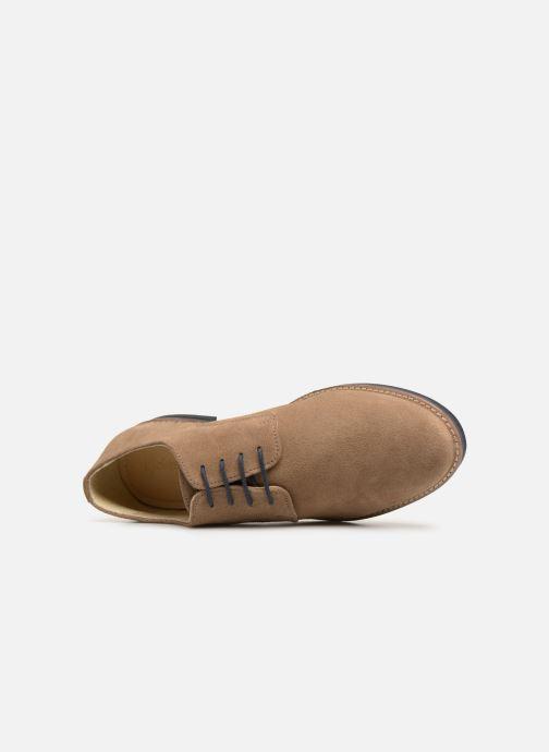 Scarpe con lacci Kickers ELDAN M Beige immagine sinistra