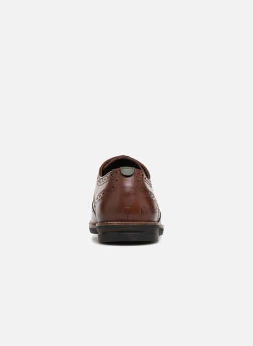 Zapatos con cordones Kickers ELDYS Marrón vista lateral derecha