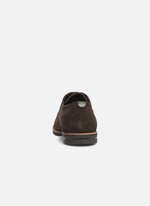 Chaussures à lacets Kickers ELDYS Marron vue droite