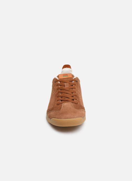 Sneakers Kickers KICK 18 M Marrone modello indossato