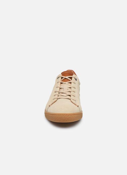 Baskets Kickers SAN MARCO Beige vue portées chaussures