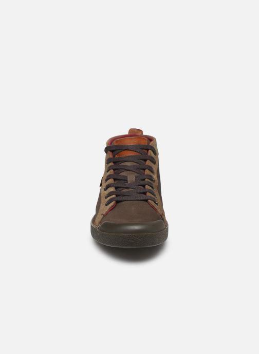 Sneakers Kickers TRIPAD Marrone modello indossato