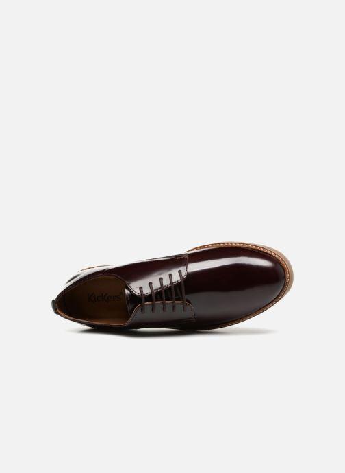 Chaussures à lacets Kickers OXFORK M Bordeaux vue gauche