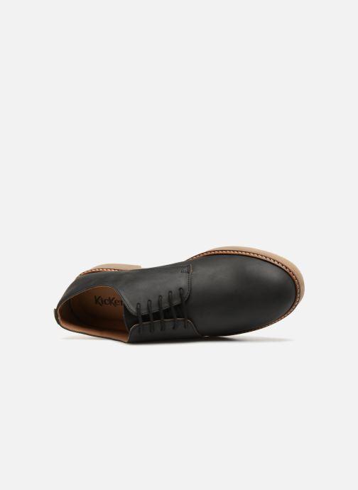 Zapatos con cordones Kickers OXFORK M Negro vista lateral izquierda
