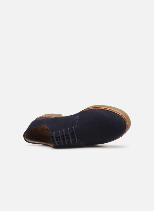 Chaussures à lacets Kickers OXFORK M Bleu vue gauche