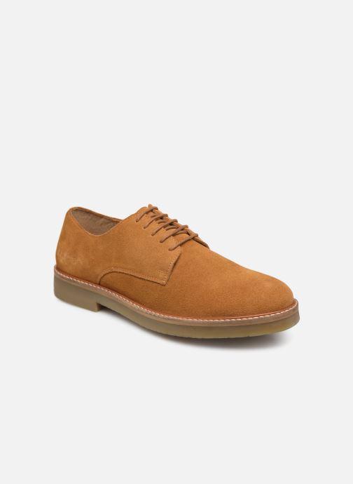 Chaussures à lacets Kickers OXFORK M Marron vue détail/paire