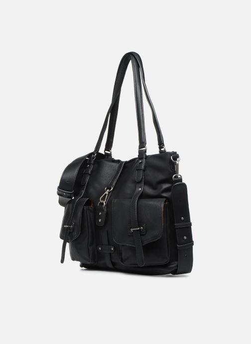 Sacs à main Tamaris Bernadette Shopping Bag Noir vue portées chaussures
