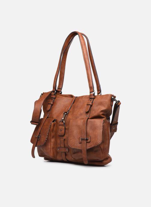 Sacs à main Tamaris Bernadette Shopping Bag Marron vue portées chaussures