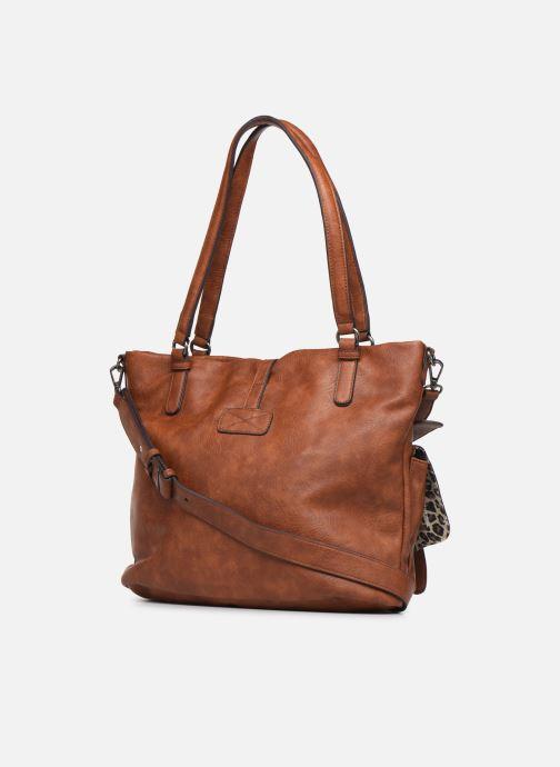 Bolsos de mano Tamaris Bernadette Shopping Bag Marrón vista lateral derecha