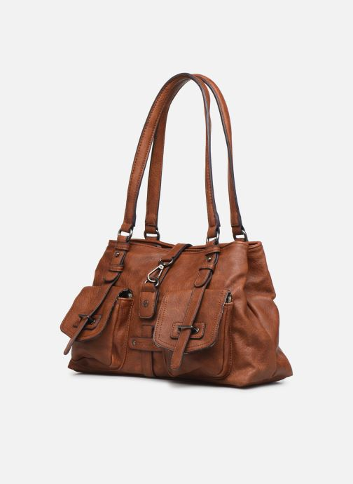Handtaschen Tamaris Bernadette Shoulder Bag braun schuhe getragen