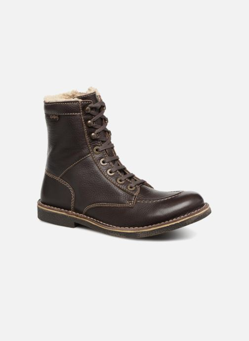 Bottines et boots Kickers KICKSTONERY Marron vue détail/paire