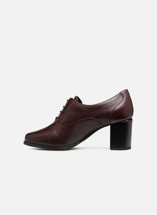 Zapatos con cordones Georgia Rose Relax Soft Vino vista de frente