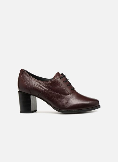 Zapatos con cordones Georgia Rose Relax Soft Vino vistra trasera