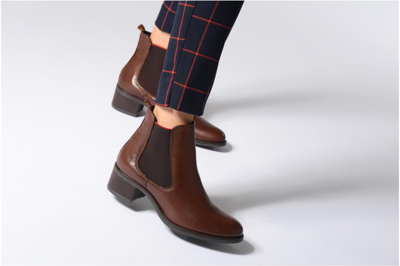 Bottines et boots Georgia Rose Riqueta Soft Marron vue bas / vue portée sac