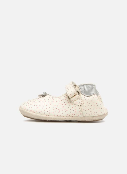 Pantofole Robeez DOTTIES Bianco immagine frontale