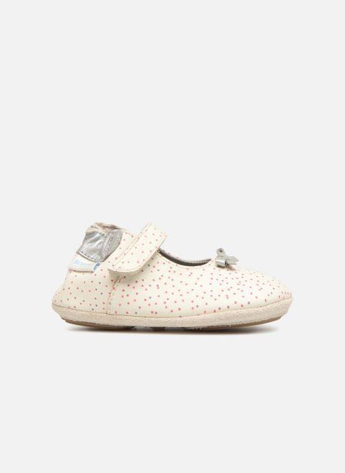 Pantofole Robeez DOTTIES Bianco immagine posteriore
