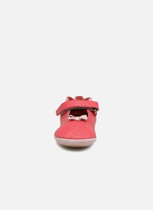 Hausschuhe Robeez DOTTIES rosa schuhe getragen