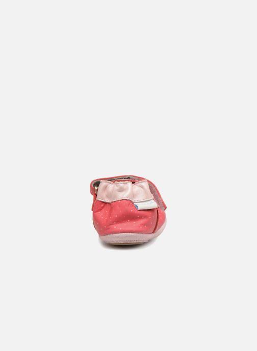 Hausschuhe Robeez DOTTIES rosa ansicht von rechts