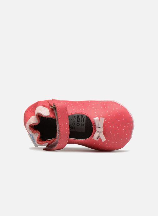 Hausschuhe Robeez DOTTIES rosa ansicht von links