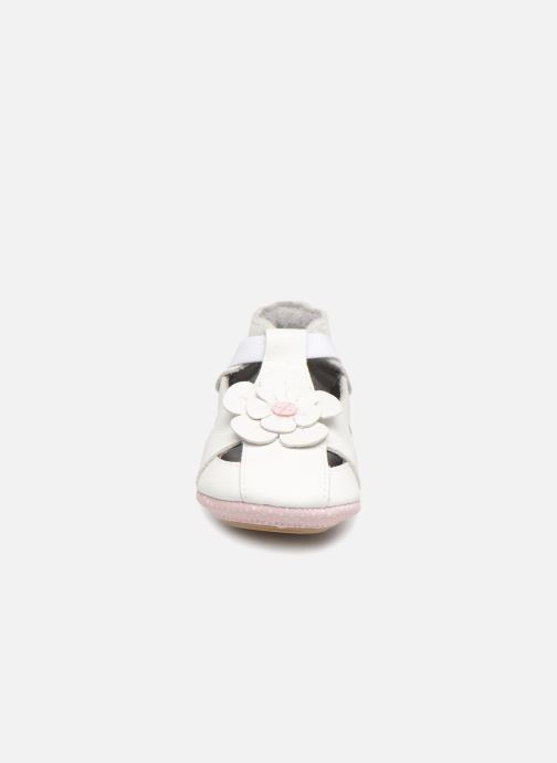 Chaussons Robeez PRETTY MINI Blanc vue portées chaussures