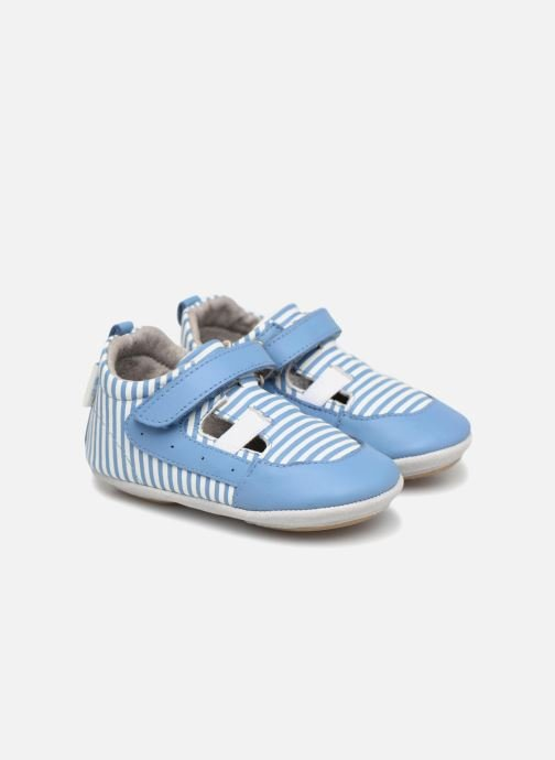 Slippers Robeez STRIPPY Blue detailed view/ Pair view