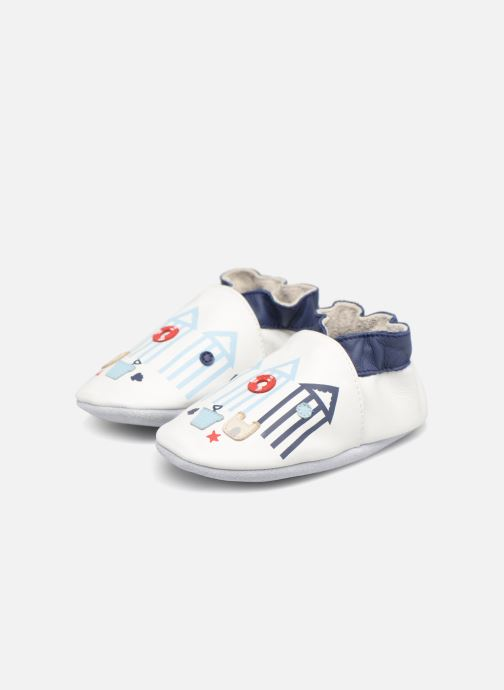 Chaussons Robeez BEACH HUTS Blanc vue 3/4