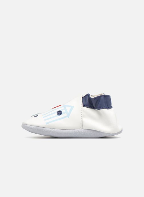 Chaussons Robeez BEACH HUTS Blanc vue face