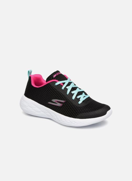Sportschoenen Skechers Go Run 600 Fun Run Zwart detail