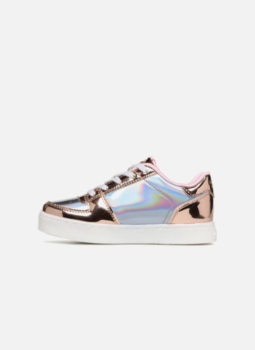 Sneaker Skechers Energy Lights Shiny Brights Low silber ansicht von vorne