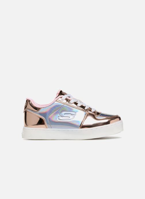 Sneaker Skechers Energy Lights Shiny Brights Low silber ansicht von hinten