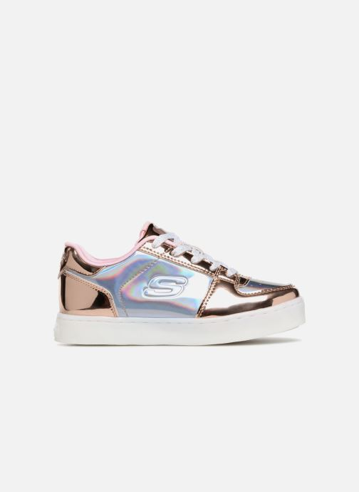 Trainers Skechers Energy Lights Shiny Brights Low Silver back view