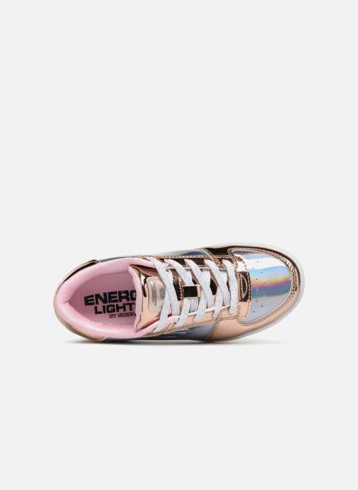 Sneaker Skechers Energy Lights Shiny Brights Low silber ansicht von links