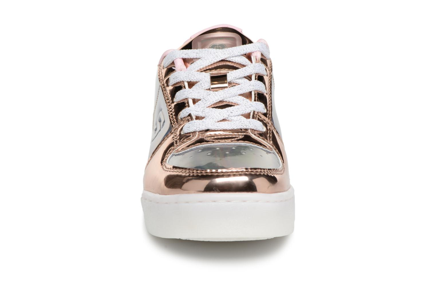 Baskets Skechers Energy Lights Shiny Brights Low Argent vue portées chaussures