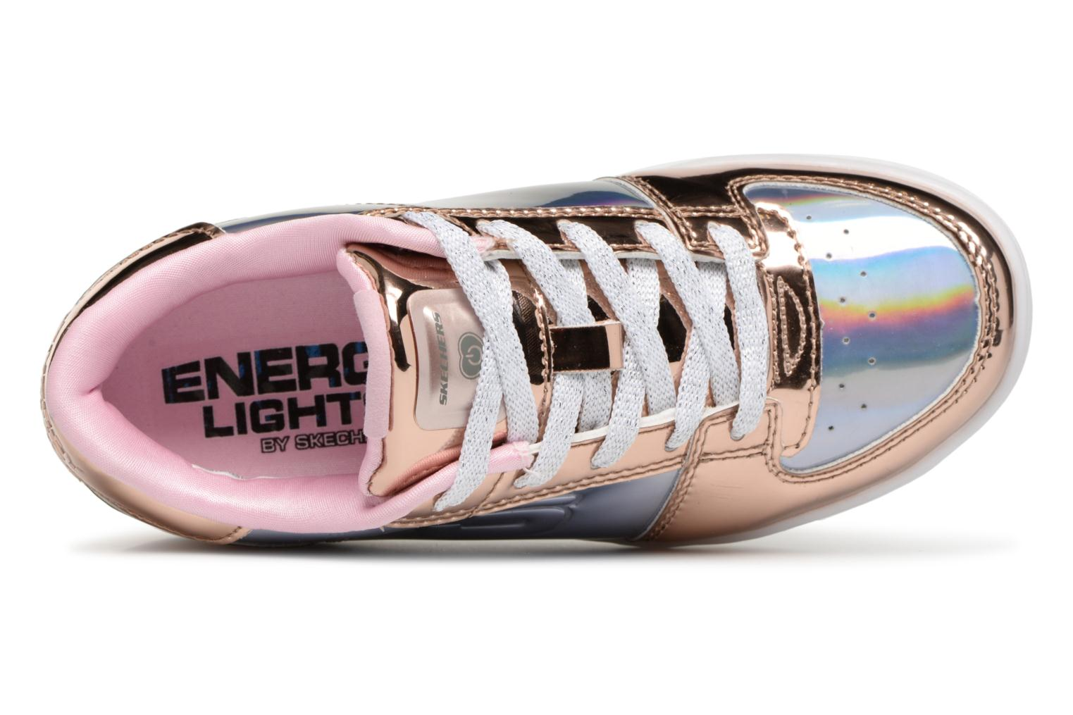 Baskets Skechers Energy Lights Shiny Brights Low Argent vue gauche